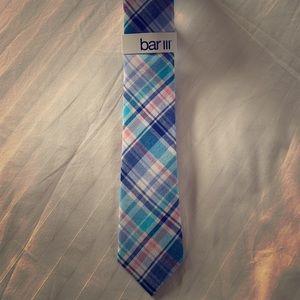 New men's Bar III pastel plaid slim tie